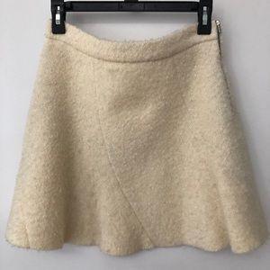 Zara Cream Wool Flared Skirt
